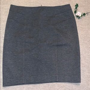 New York & Company stretch skirt gray